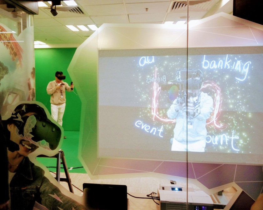 The IVE in Hong Kong are better equipped than most private colleges in Malaysia. This is a shot on the Virtual Reality studio of IVE-CW.