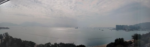 This view taken from Chu Hai College President Chang Ching Nan's office, offered the best view of the Pearl River mouth.