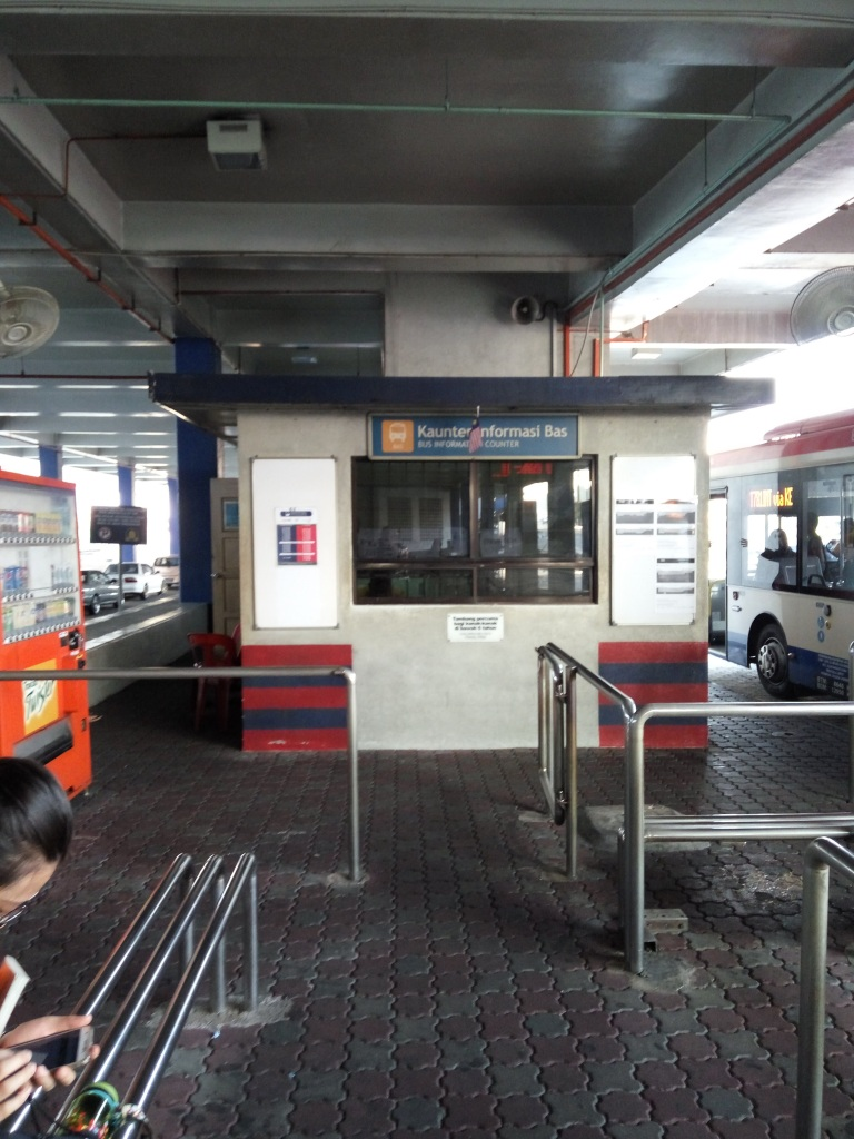 The information counter is used as a canteen by RapidKL bus drivers who would not be pleased if you disturb them enjoying their meals while on duty!