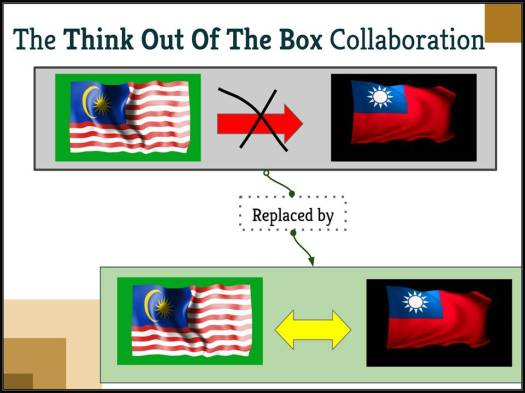 """A """"think out of the box"""" model of collaboration between Malaysian and Taiwanese colleges and universities will replace the one-way flow of students from Malaysia to a bidirectional flow of students between Taiwan and Malaysia to the benefit of both nations."""
